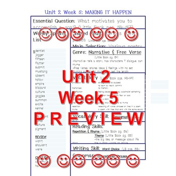 Unit 2 Week 5 Skills Guide Fifth Grade McGraw Hill Reading Wonders POETRY