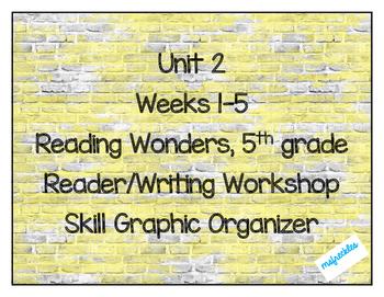 Unit 2 Weeks 1-5, 5th grade- Reading Wonders Weekly Skills