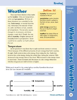 Unit 2: What Causes Weather?: Concepts (Skill Sharpeners: Science)
