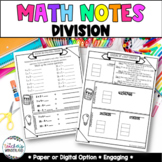 Grade 5- Unit 2 -Whole Number Division Guided Math Notes