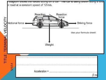 GCSE Physics Unit 2 - Forces in Motion Scheme of Work