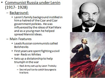 Unit 21: Russia & Between the Wars (World History/Global 10 Ch 28/29)