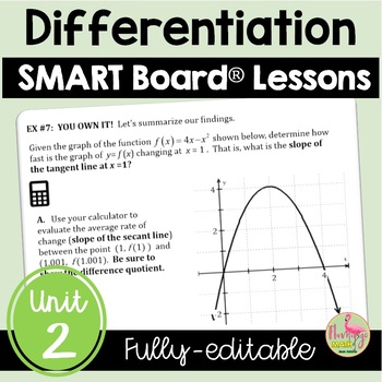 Calculus: Differentiation SMARTBOARD Lessons Bundle