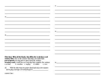 Sadlier Vocabulary Workshop Unit 3 11-20 Level A