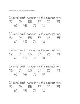 Unit 3 4th grade Thrive Math Journals