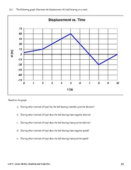 Unit 3 Activity 10 - Analyzing Distance/Displacement Graphs