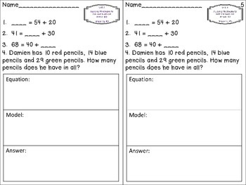 Unit 3: Adding and Subtracting Within 100