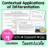 Contextual Applications of Differentiation Essentials and