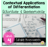 Calculus: Applications of Differentiation Activities and Assessments Bundle