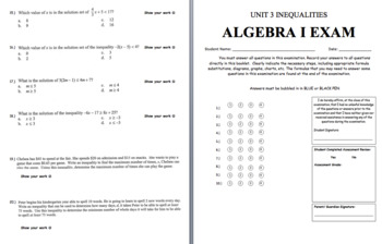 Unit 3 Assessment and Review (Solving and Graphing Linear Inequalities)