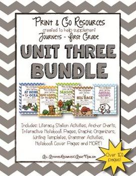 Unit 3 Bundle Journeys First Grade Print and Go
