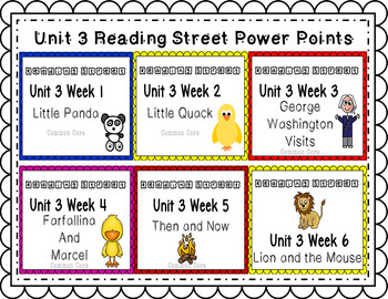 Unit 3 Bundle PowerPoints Reading Street