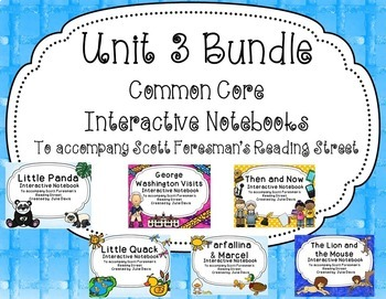 Unit 3 Bundle Common Core Interactive Notebook Journal