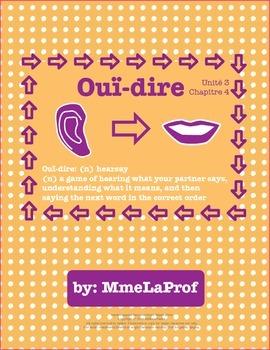Unit 3, Chapter 4: Hearsay: Listening & Speaking Pair Activity: Beginner French