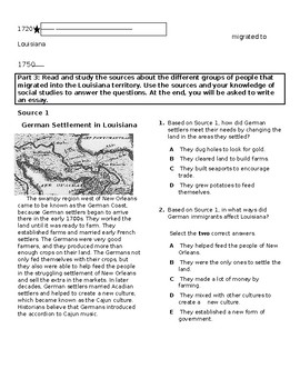 Unit 3: Colonial Louisiana Topic 2 Assessment 2