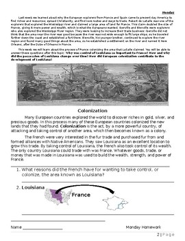 Unit 3: Colonizing Louisiana Topic 2 booklet 1