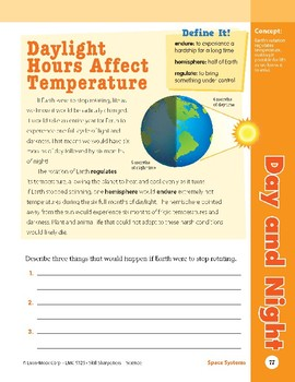 Unit 3: Day and Night: Concepts (Skill Sharpeners:Science)