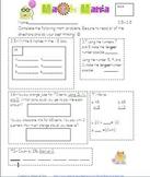 Unit 3 Everyday Math 2nd Grade Starred Skills Common Core