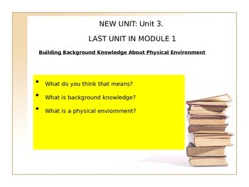 Unit 3 Expeditionary Learning (M1, U3, L1)