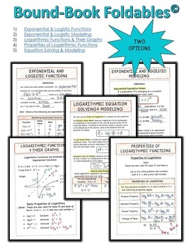 PreCalculus Exponential Logistic and Logarithmic Functions Bundle