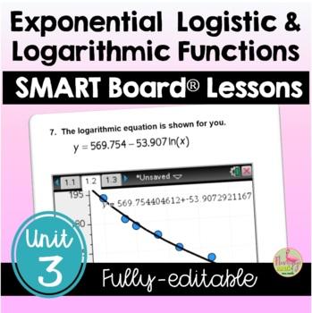 PreCalculus: Exponential-Logarithmic Functions SMARTBOARD Lessons Bundle