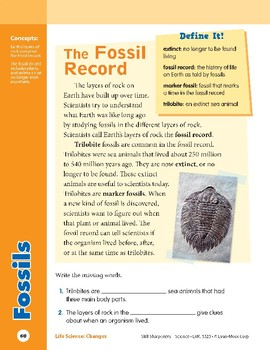 Unit 3: Fossils: Concepts (Skill Sharpeners: Science)