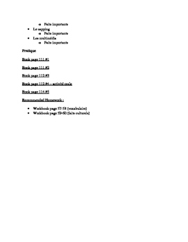 Unit 3 French 3 C'est a Toi Guided notes pack