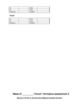 Unit 3 French Assessment Pack French 1 C'est a Toi Level 1