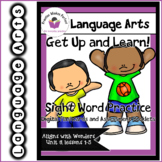 Wonders Unit 3 Get Up and Learn Sight Word Practice Slideshow and Assessment