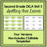 Unit 3 Grade 2 CKLA Spelling Tree Leaves- FOUR VERSIONS and EDITABLE TEMPLATES
