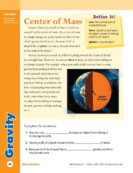 Unit 3: Gravity: Concepts (Skill Sharpeners:Science)
