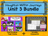 Unit 3 Houghton Mifflin Journeys MEGA BUNDLE (Homework & Question Task Cards)