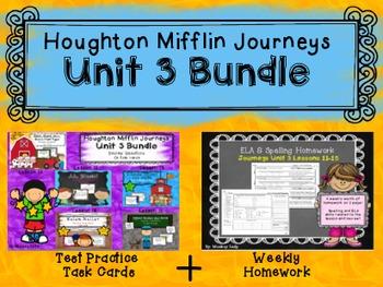 Unit 3 Houghton Mifflin Journeys MEGA BUNDLE (Homework & Q