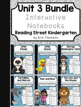 Unit 3 Interactive Notebooks Bundle ~ Reading Street Kindergarten
