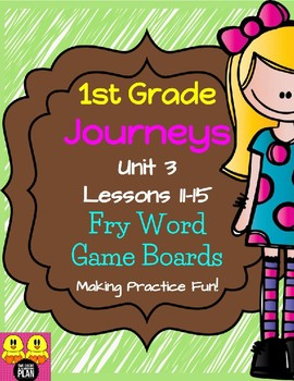 Unit 3 Journeys Fry Word Game