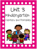 Unit 3, Kindergarten Centers and Printables, Reading Street