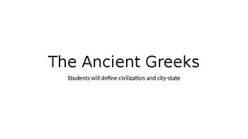 Unit 3 Lesson 1 Ancient Greeks