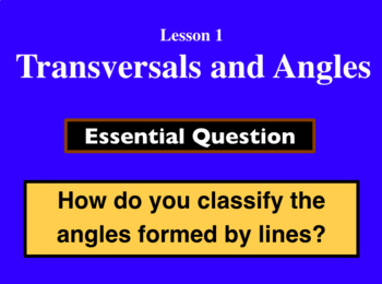 Unit 3 Lesson 1: Transversals and Angles