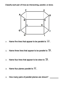 Unit 3 Lesson 1: Transversals and Angles Worksheet