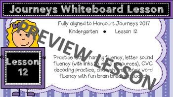 Unit 3 Lesson 12 Journeys Whiteboard Lesson FREEBIE