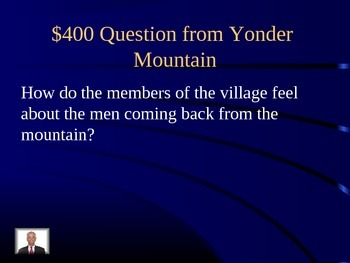 Unit 3 Lesson 13 Yonder Mountain: A Cherokee Legend Jeopardy