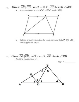 Unit 3 Lesson 2: Properties of Parallel Lines Worksheet