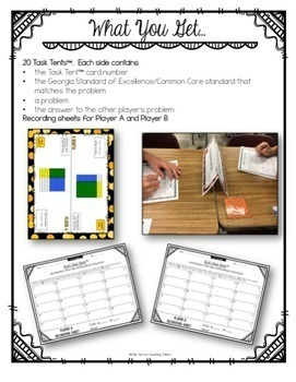 Task Tents™ - Math Edition {5th Grade Unit 3}