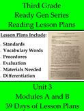 39 Third Grade Pearson ReadyGEN Reading Lesson Plans - Uni