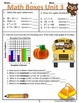 Unit 3 Multiplication & Division Math Boxes Review 4th Grade