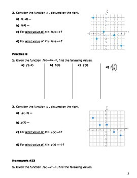 Unit 3 Obj 23: Function notation and eval. functions given a rule or graph