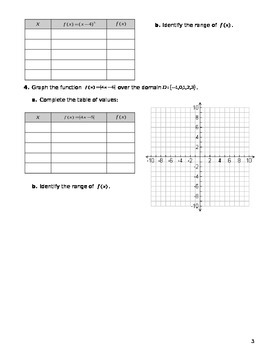 Unit 3 Obj 24: To Graph Functions Over a Specific Domain