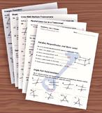 Unit 3– Parallel Lines; Unit Review Packet & Key