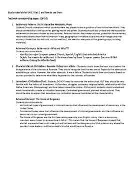 Unit 3 Part 1 - Colonies of the Early 17th Cent. -Louisiana Grade 5
