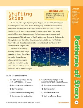 Unit 3: Patterns of Stars: Concepts (Skill Sharpeners:Science)